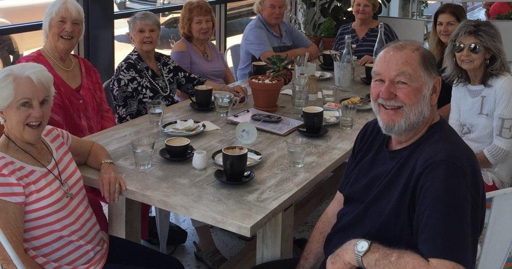 Primetimers (55+) gathers monthly at cafes